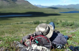 Hiker Napping in Gates of the Arctic National Park