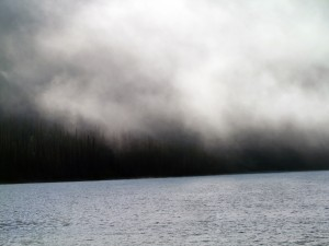 Iniakuk Lake in morning fog