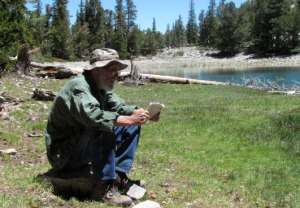 Studying the map in Great Basin National Park