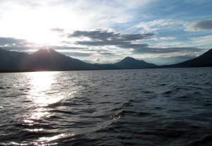 Sun on Iniakuk Lake