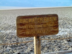 Badwater sign