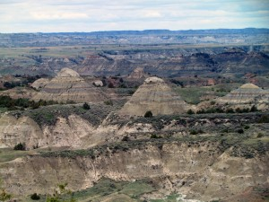 Badlands in Theodore Roosevelt National Park - North Dakota