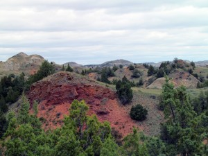 Scoria in Theodore Roosevelt National Park - North Dakota