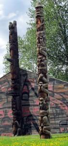 'Ksan totems - British Columbia