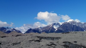Root Glacier Moraines in front of Fireweed Mountain