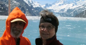 Tom and Marlene on Glacier Bay Boat Tour