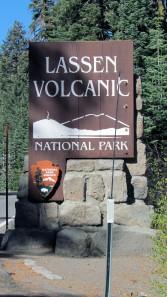 Lassen Volcanic Naitonal Park sign