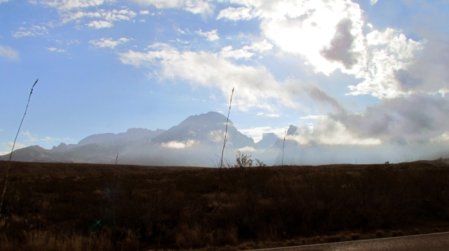 Morning fog over the Chisos