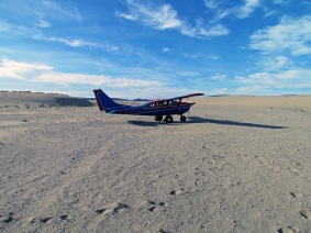 landed on the dunes