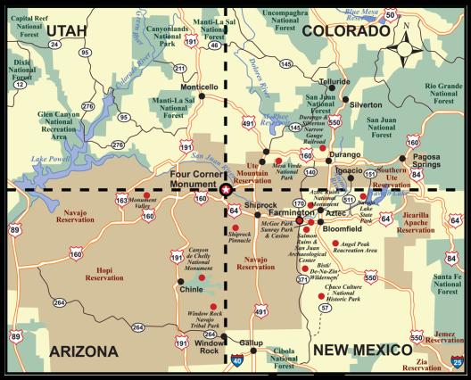 Four Corners Map